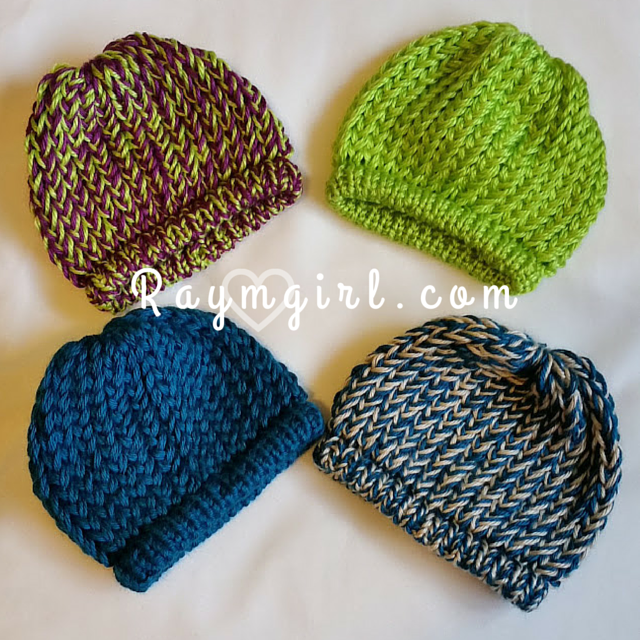 Loom Knit Infant Hats Raymgirl